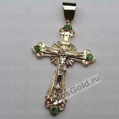 Нательный крест с камнями
