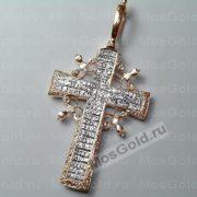 Крестик из белого золота с распятием
