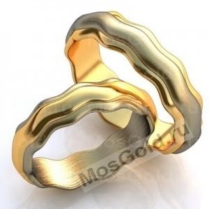 Кольца их двух видов золота