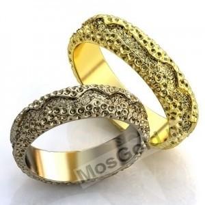 Текстурные обручальные кольца