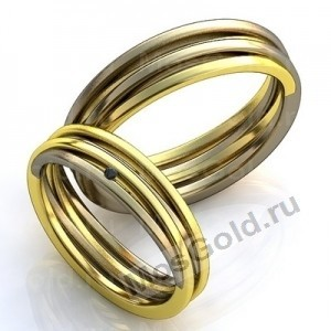 Обручальные кольца полоски