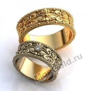 Узорные обручальные кольца