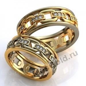 Цепи обручальные кольца из золота