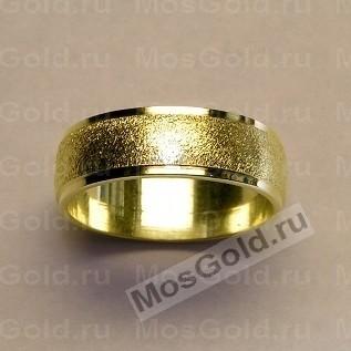 Широкие обручальные кольца со структурой