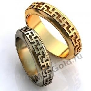 Золотые славянские кольца