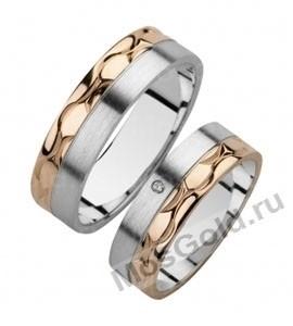 Матовые фактурные обручальные кольца