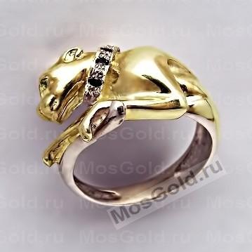 Эксклюзивное золотое кольцо Cartier с пантерой