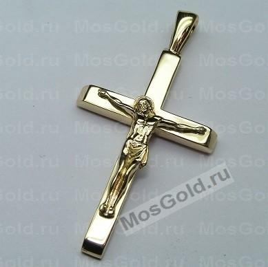 Крестик лимонное золото