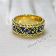 Кольцо с эмалью вид сбоку