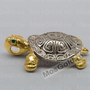 Большой кулон золотая черепаха