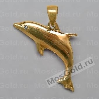 Кулон в виде дельфина