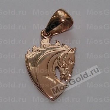 Кулон в виде лошадки из красного золота