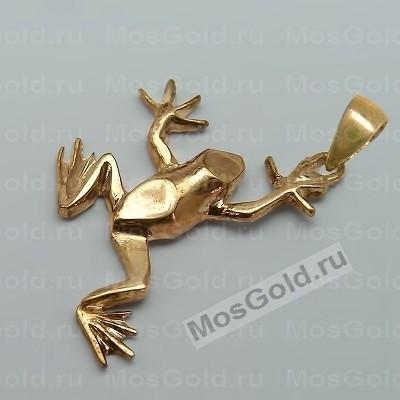 Кулон лягушка из жёлтого золота
