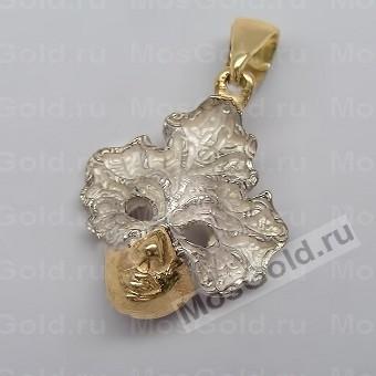 Подвеска маска из белого золота