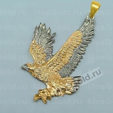 Золотой кулон в виде большого орла