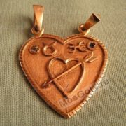 Кулон половинки сердца с знаками зодиака