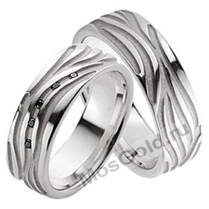 Обручальные кольца с рисунком