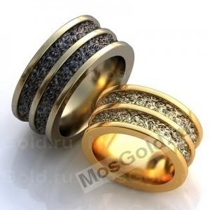 Широкие обручальные кольца