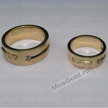 Обручальные кольца из жёлтого золота