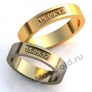 Обручальные кольца с датой