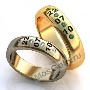Кольца с датой свадьбы
