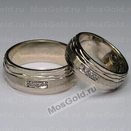 Оригинальные обручальные кольца из белого золота