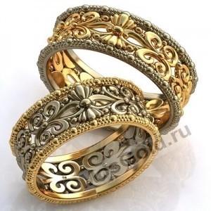 Обручальные кольца с узором