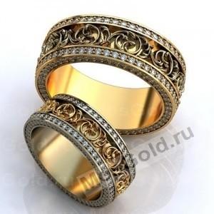 Обручальные кольца с вензелями