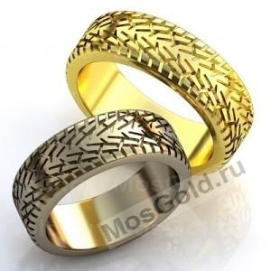 Обручальные кольца в виде шины