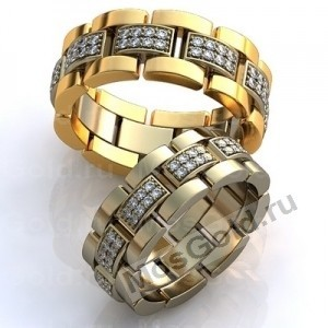 Обруачальные кольца с бриллиантами