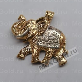 Золотая подвеска в виде слона