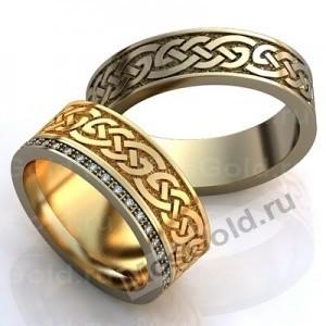 Кольца с славянским узором