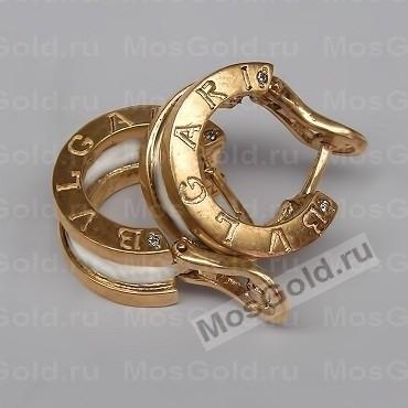 Золотоые серьги BVLgari