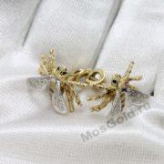 Эксклюзивные серьги пчёлки с бриллиантами