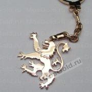 Брелок лев для ключей