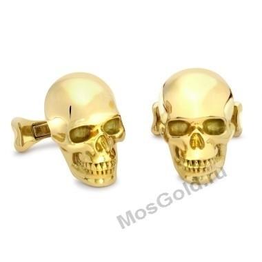 Золотые запонки с черепами