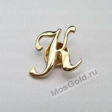 Значок с буквой К