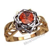 Женское кольцо с корундом
