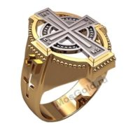 Кольцо с крестом мужское
