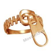 Дизайнерское кольцо молния