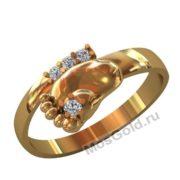 Женское кольцо ножка