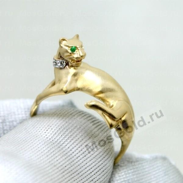 ювелирная мастерская: Кольцо в виде пантеры