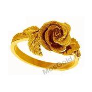 кольцо роза ручной работы