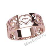 кольцо с сердцем внутри