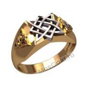 Мужское кольцо Звезда Лады