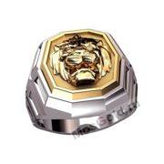 Мужское кольцо со львом