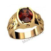 Мужское кольцо с рубином
