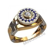 Мужское кольцо с звеньями