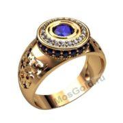 Красивый мужской перстень с камнем