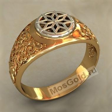 Мужское кольцо с карельской звездой